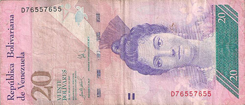 Banknote with Bookend serial number (4 digits) and ternary serial number