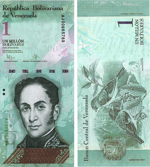Fake news of 1 Million Bolivares Banknote