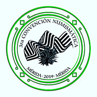 Logo of the 3rd Numismatic Convention of Merida, May 2019