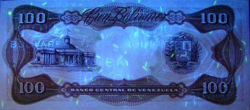 Piece bbcv100bs-dc01-a8 (Reverse, under ultraviolet light)
