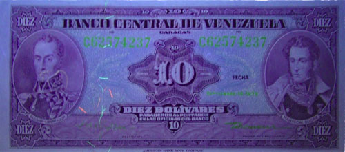 Piece bbcv10bs-ea07-c8 (Obverse, under ultraviolet light)