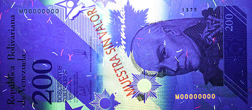 Piece bbcv200bss-ab01s (Obverse, under ultraviolet light)